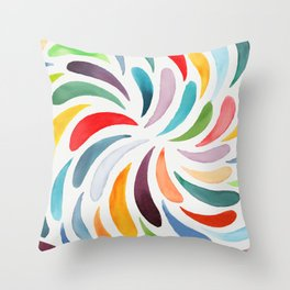 Flower petals watercolor Throw Pillow