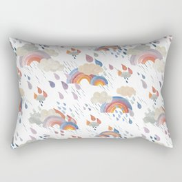April Showers Golds and Blues Rectangular Pillow