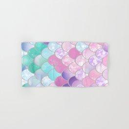 Mermaid Sweet Dreams, Pastel, Pink, Purple, Teal Hand & Bath Towel