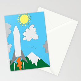 The Space Launch Up And Away Stationery Cards