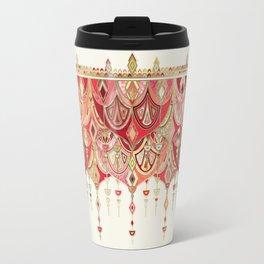 Royal Red Art Deco Double Drop Travel Mug