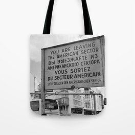 Checkpoint Charlie Berlin Tote Bag