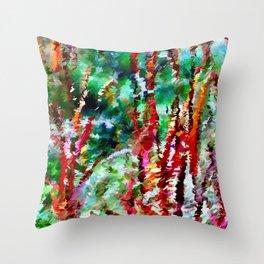 Autumn Grasses Abstract Throw Pillow