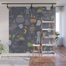 Cute Happy Halloween Wall Mural