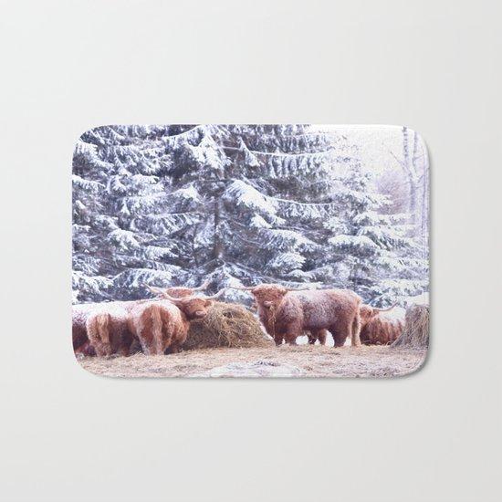 West Highland Cattle Bath Mat