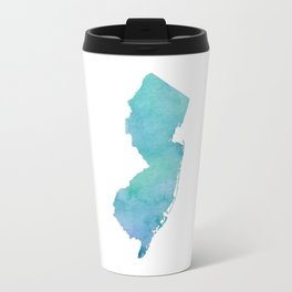 Watercolor New Jersey Travel Mug