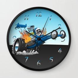 Top Fuel Dragster Cartoon Wall Clock