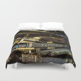 Collage - Daggers, Dirks and Sabres Duvet Cover