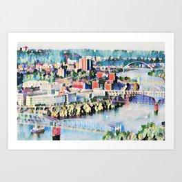Pittsburgh City of Bridges Art Print