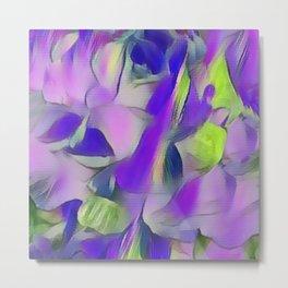 Heavenly Rose Petals Abstract - Purple Metal Print