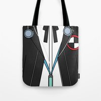 persona Tote Bags featuring Persona 3 Protagonist Uniform by Bunny Frost