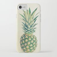 pineapple iPhone & iPod Cases featuring Pineapple by Cassia Beck