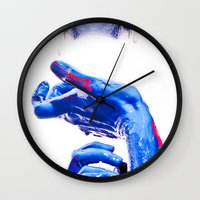 abyss Wall Clocks featuring ABYSS by Lola Montiel