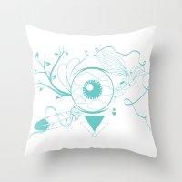 surrealism Throw Pillows featuring Surrealism by Karen Trujillo