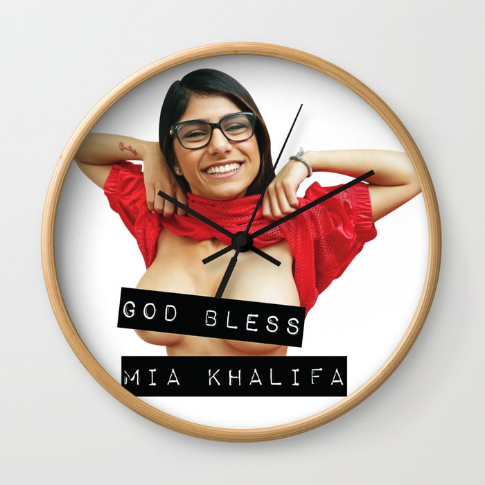 new style c1229 d9814 God Bless Mia Khalifa Wall Clock