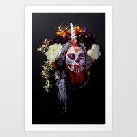 Tiger Blossom Muertita Art Print
