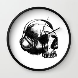Skull DJ Wall Clock