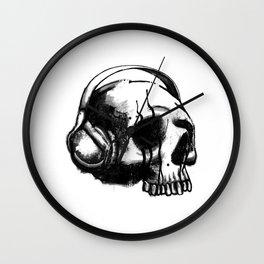 Skull DJ Wall Clock