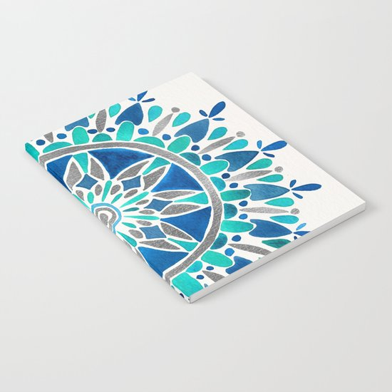 Mandala – Silver & Blue Notebook