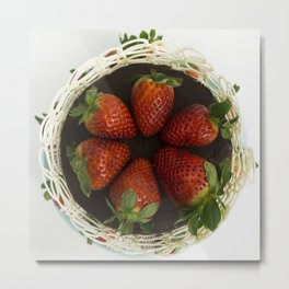 Strawberry Cake Metal Print
