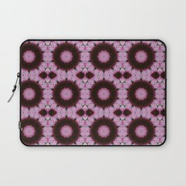 Pink Cone Flower Abstract Tile 78 Laptop Sleeve