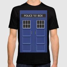 Tardis - Doctor Who Mens Fitted Tee Black MEDIUM