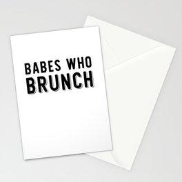 Babes Who Brunch Squad Design Stationery Cards