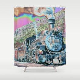 Express Train to Dreamland – Fine Art, Wall Art Décor, Abstract Shower Curtain