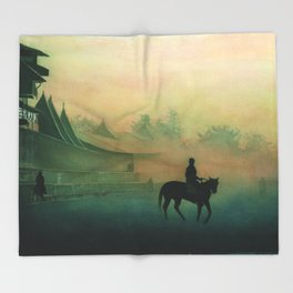 "THE EARLY MORNING SERIES 1# ""SARATOGA"" Throw Blanket"