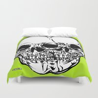 kindle Duvet Covers featuring 109 by ALLSKULL.NET