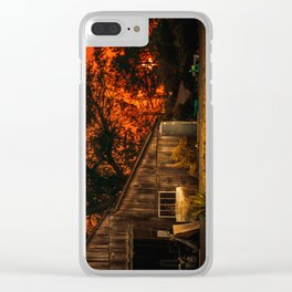 Red sunset in rural California Clear iPhone Case