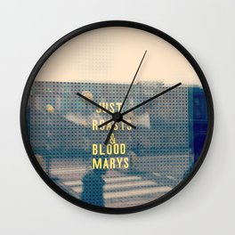 Just Roasts & Bloody Marys Wall Clock