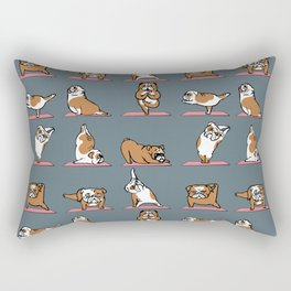 English Bulldog Yoga Rectangular Pillow