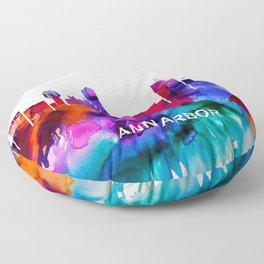 Ann Arbor Skyline Floor Pillow