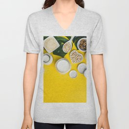 dairy free milk substitute drinks and ingredients Unisex V-Neck