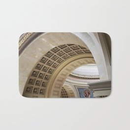 Wisconsin Capitol Building Arches And Angles Bath Mat
