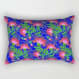 Flora De Fuego Royal Rectangular Pillow