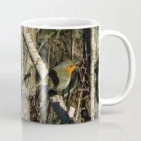 robin Mugs featuring robin by giol's