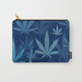 Marijuana Cannabis Weed Pot Blue Leaves Carry-All Pouch