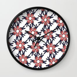 Abstract, Peace Fingers Flag (OS17004) Wall Clock