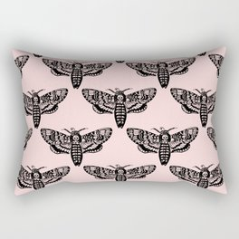 Death's Head Moth - Blush Rectangular Pillow