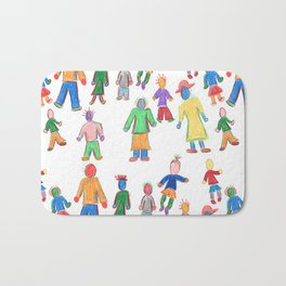 Multicolor People Multiples Bath Mat