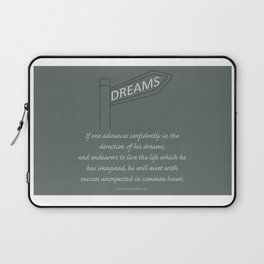 Go Confidently in the Direction of your Dreams – Inspirational Poster Laptop Sleeve