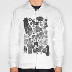 Bear and motorcycles Hoody