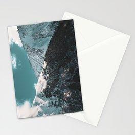 Snowy Mountains Under Teal Sky - Alaska Stationery Cards