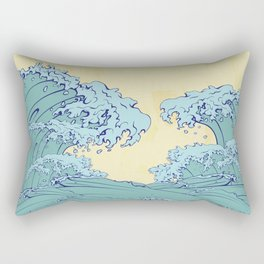 Waves in Japanese style Rectangular Pillow