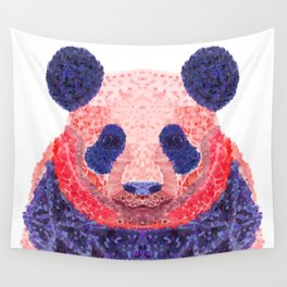 Don't Be Scared To Be Different If You're Already Rare (Panda Animal Painting Stippled Pop Art) Wall Tapestry