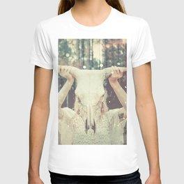 Bull Skull Tribal Woman T-shirt