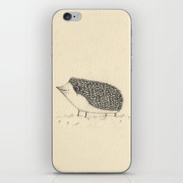 Monochrome Hedgehog iPhone Skin