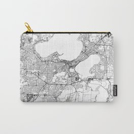 Madison White Map Carry-All Pouch